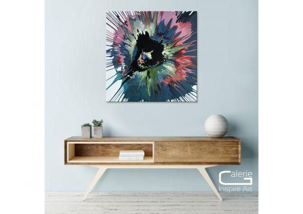 """Kunst online kaufen: Dieu """"Ideeller Mittelpunkt"""" modernes Gemälde"""