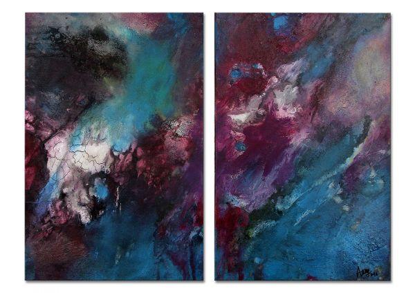 moderne Malerei zweiteilig