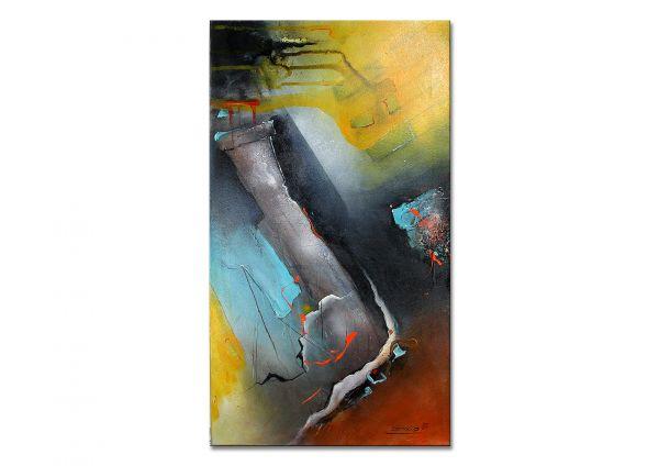 """Exemplarisches Gemälde von M.Steinacher: """"Gefärbte Gedanken"""""""