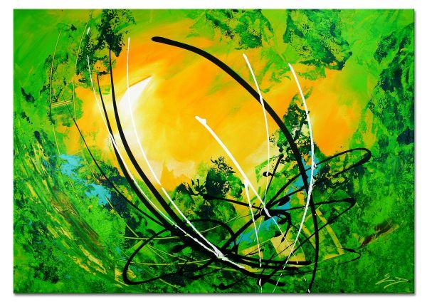 """""""Verwunschen III"""" - abstraktes Wandbild in Acryl, moderne Kunst (WYND)"""