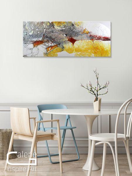 Abbildung abstrakte Kunst Esszimmer
