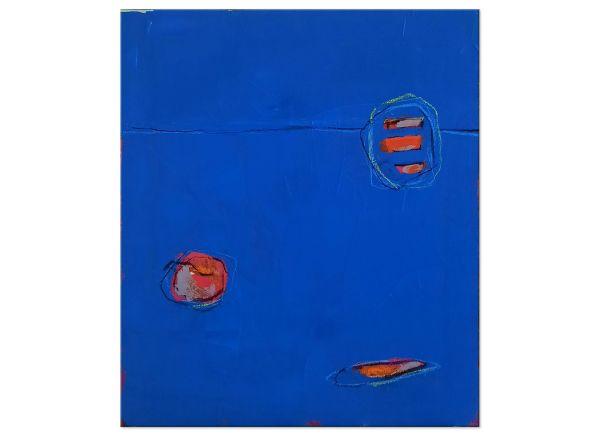 blaues bild kunst