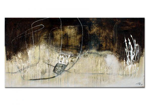 "Abstraktes Acrylgemälde, Malerei von Manuela Pilz: ""Winterpoesie I"""