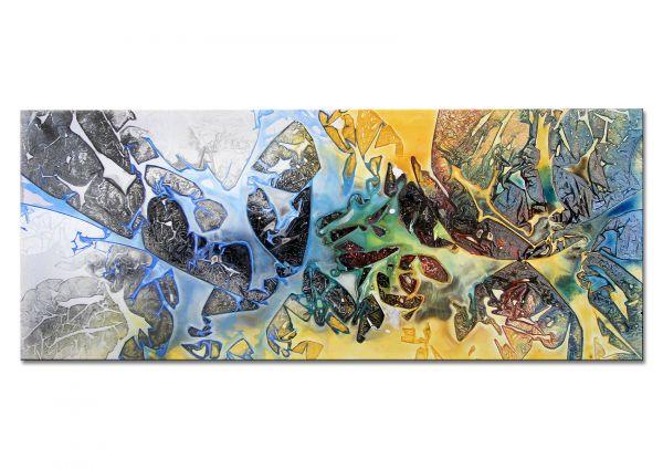 """Abstraktes Struktur Gemälde, Dieu: """"Basic Beach"""""""