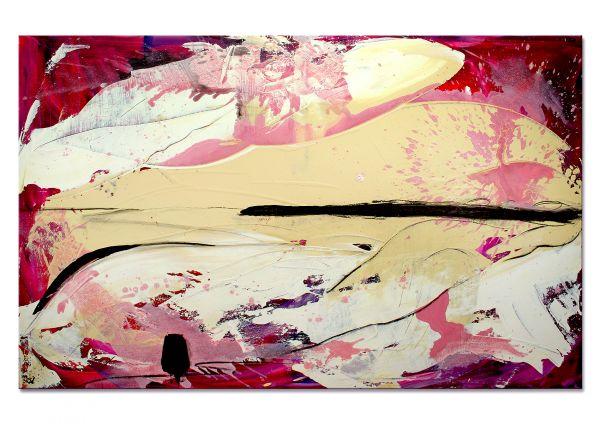 """Moderne Bilder, großes Gemälde, C.Wachsmann: """"Ich male mir die Welt, so wie sie mir gefällt"""""""