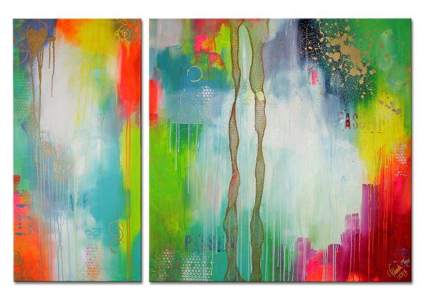 """Abstraktes Acrylgemälde, Lydia Schade-Fox: """"Tanzendes Lachen"""""""