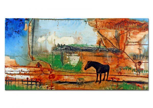 Gemälde mit Pferd