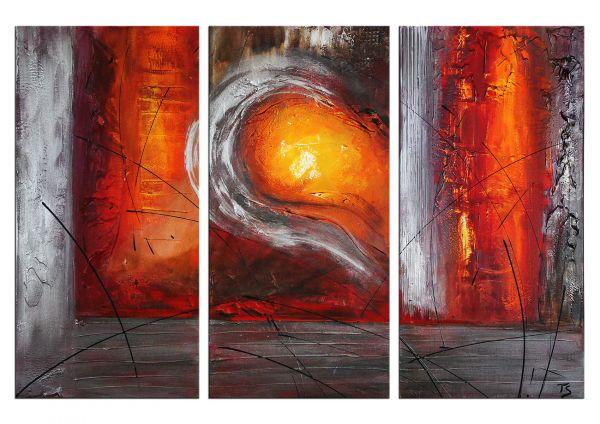 """""""Mirage"""" abstraktes 3 tlg. Gemälde - Gegenwartskunst"""