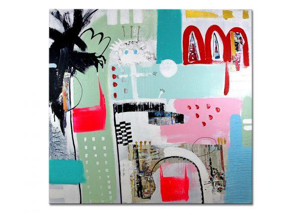 """U.Rendle: """"Schachmatt"""" abstrakte Acrylmalerei"""