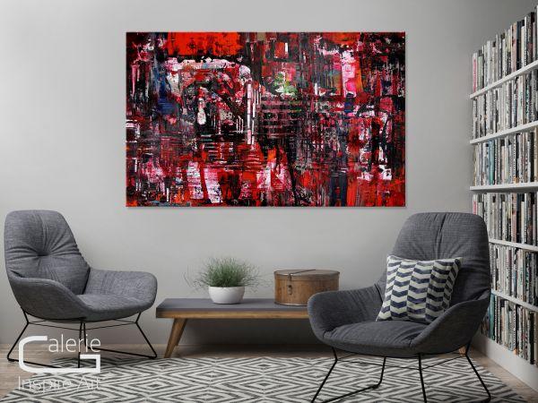 """Abstrakte Bilder, Wandbilder kaufen Galeriegemälde, U.Rendle: """"King Artus"""""""