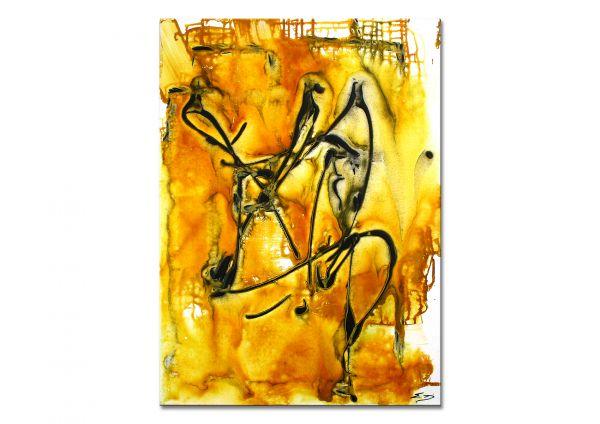 """Charismatische Malerei """"Quicksand"""" - abstraktes Wandbild - bildende Kunst"""
