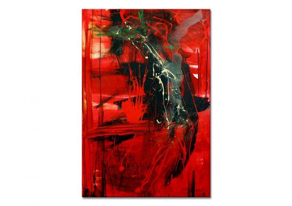 Rotes Gemälde Kunst