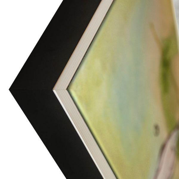 PREMIUM Massivholz Schattenfugenrahmen, Silberkante (SFRM4035A1262), passgenaue Maßanfertigung