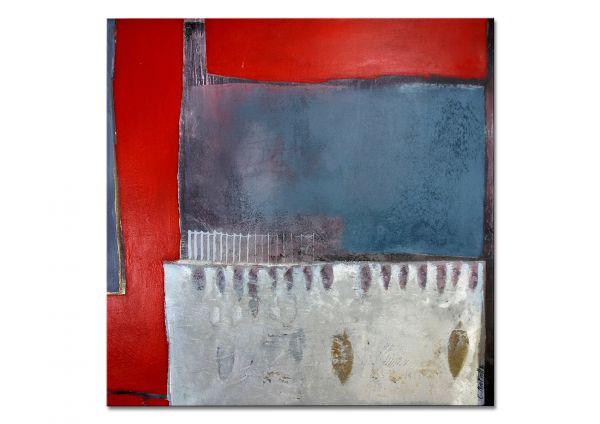 Malerei abstrakt rot blau