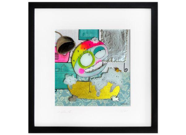 Waschtag Limitierte Kunst Edition Serie signiert Rendle Fineartprint