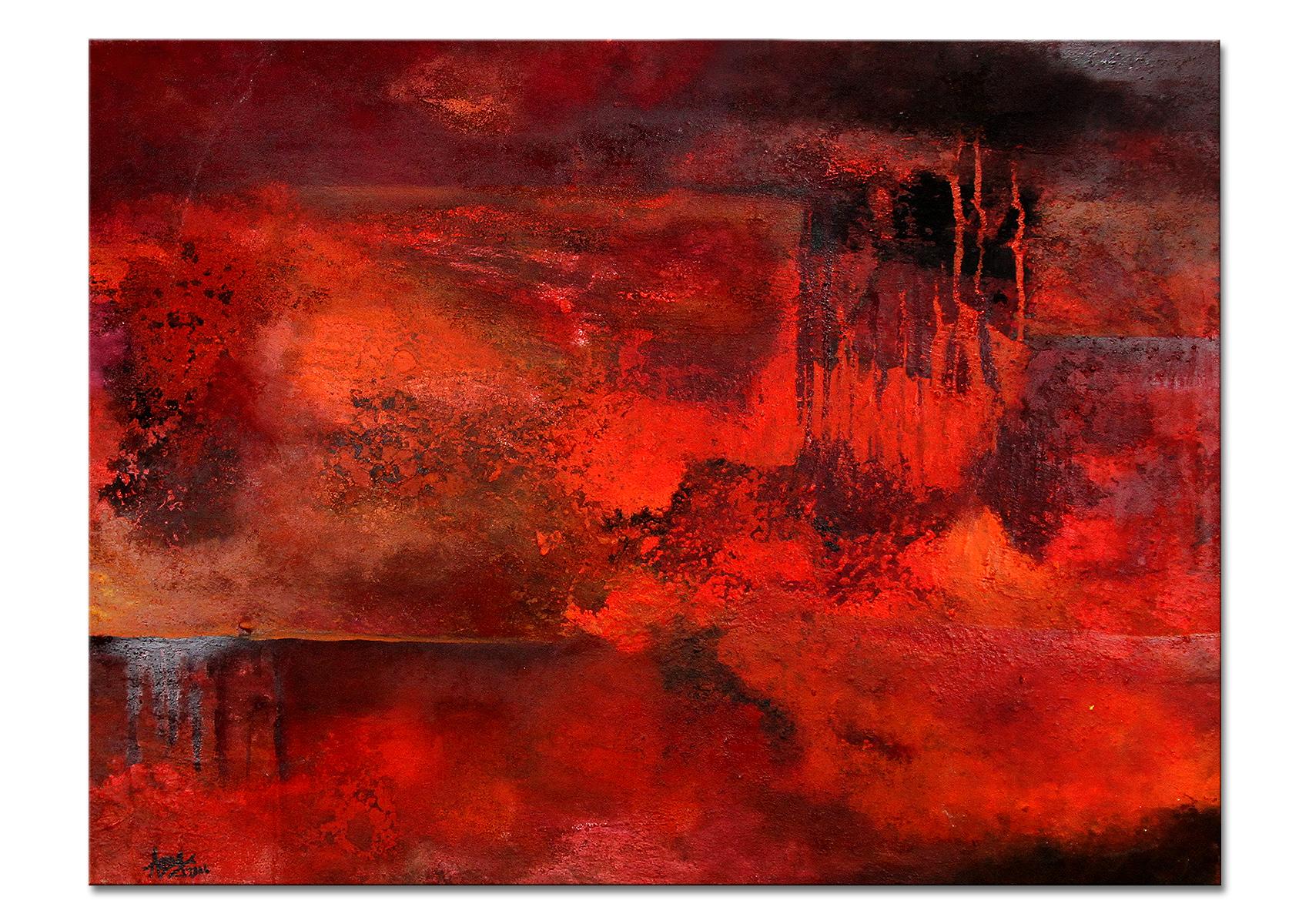 Gemälde Rot