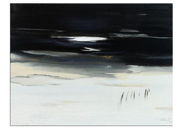 """C.Niehoff: """"Die Nacht ist hell"""" Original Kunst Gemälde"""