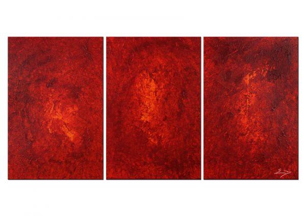 """Handgemalte Bilder TRIPTYCHON modern, Etienne Donnay: """"Espitas"""""""