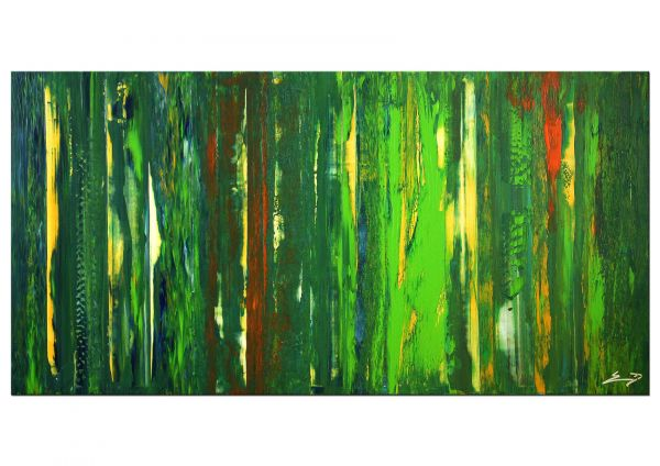 """""""Cabriano"""" grünes Gemälde, bildende Kunst, Malerei"""
