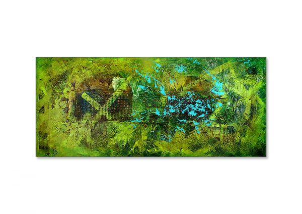 """""""Renaturierung"""" - abstraktes Ausstellungswerk - zeitgenössische Kunst"""