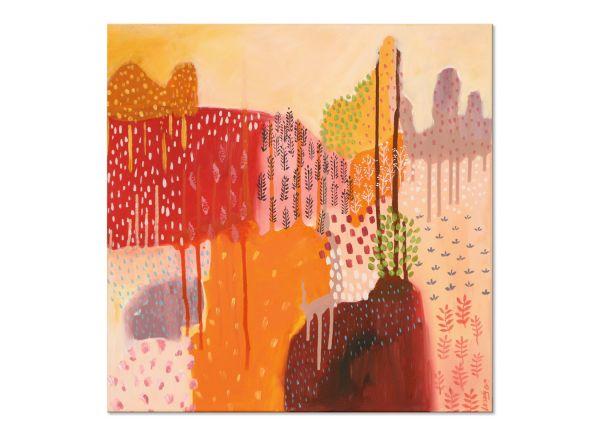 """""""Sommerwald"""" Acrylgemälde von Yosi Losaij"""