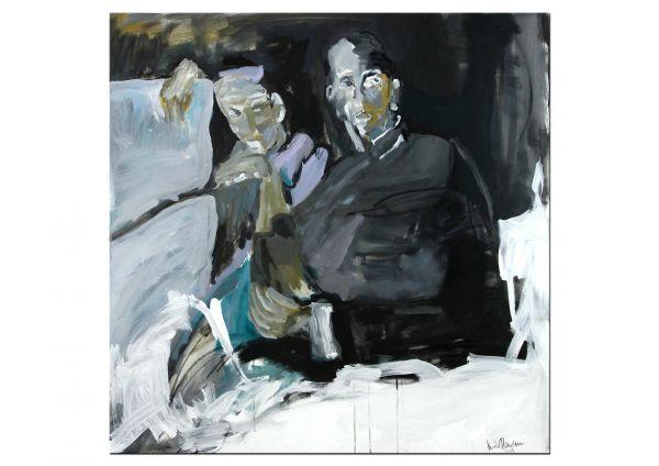 """""""Beziehungen"""" Figuration & Abstraktion, Ölgemälde, Mila Plaickner"""