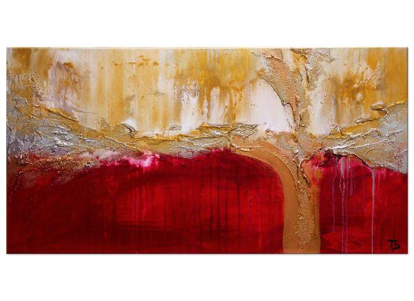 Lebensgeister Acrylgemälde modern rot