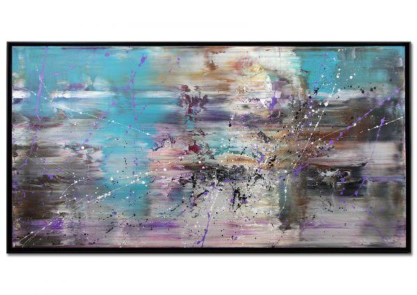 "Moderne Kunst, Galerie Gemälde im Schattenfugenrahmen ""Versuchung"""