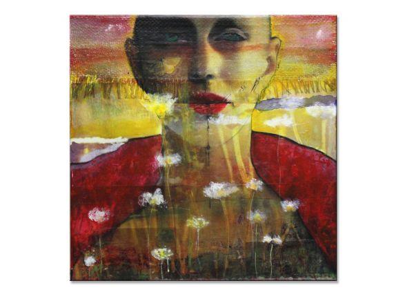 mixed media collage Patricia Frida LADANIVA