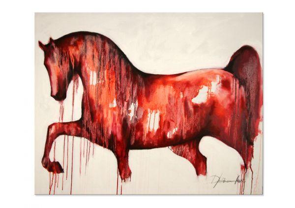 "Gemälde modern art, Elena Drobychevskaja: ""Pferd"""
