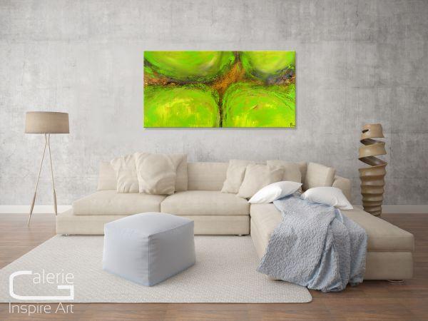"Malerei abstrakt kaufen art Gemälde, Thomas Stephan: ""Green Spirit"""