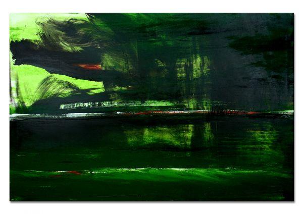 grünes Gemälde abstrakt