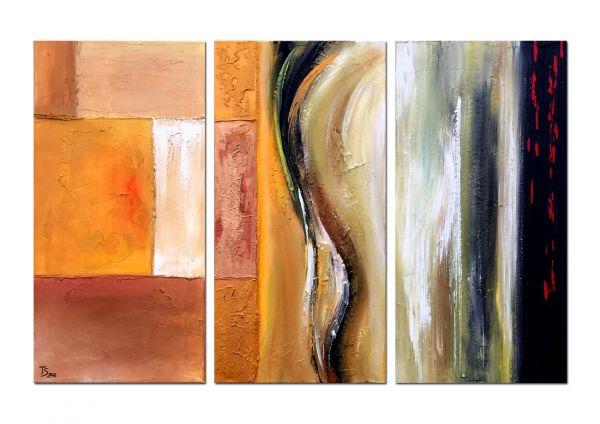 """""""Let´s Swing"""" abstraktes 3 tlg. Gemälde - Gegenwartskunst"""