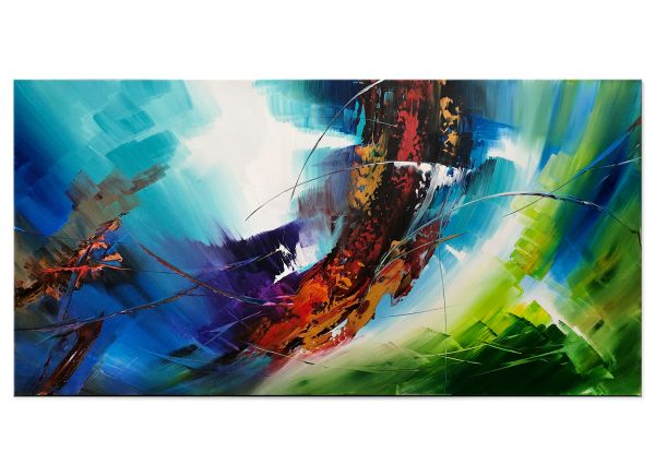 Kunst neoexpressionistische Leinwandbilder