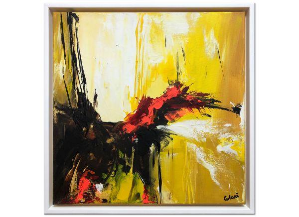 Abstrakt-gelb-leinwand-rahmen