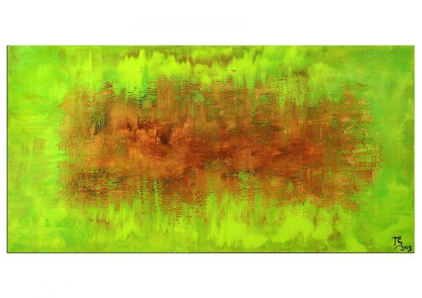 Kunst Novalis II metallisches grünes Gemälde