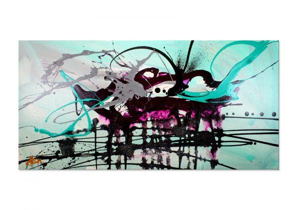 """""""Little Clouds"""" - abstraktes Kunstwerk in Acryl - moderne Kunst"""