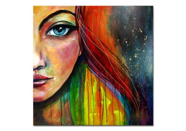 "Acrylgemälde, L. Schade: ""Rainbow"""