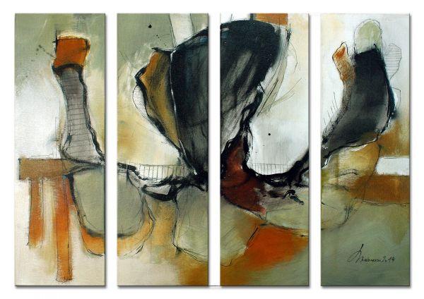 """Lovely Chaos"" - abstraktes Wandbild - zeitgenössische Kunst"