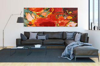 Wohnen mit Kunst im Wohnzimmer | Galerie Inspire Art