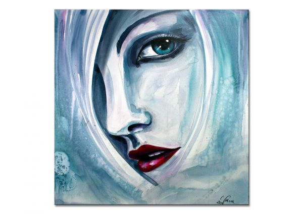 """Ice"" - abstraktes Portrait Gemälde - moderne Malerei"