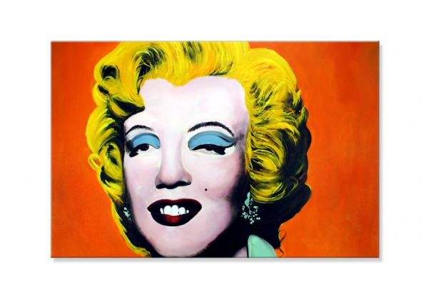 """Marilyn"" [orange] Pop Art Gemälde - handgemaltes Original in Öl"