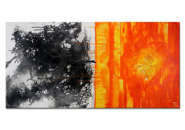 "Abstrakte Kunstmalerei Acryl Gemälde, Thomas Stephan: ""Sonnenfrühstück"""