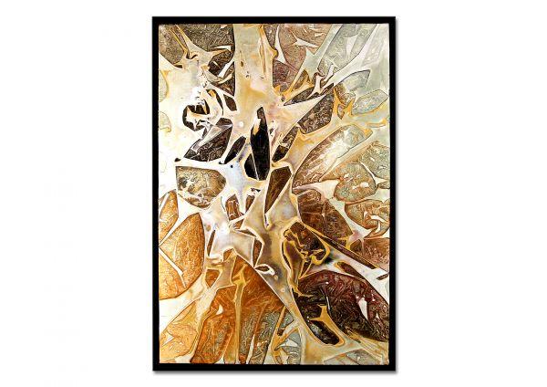 """Dieu: """"Apricot"""" Gemälde mit Rahmen, Acryl auf Malgrund"""