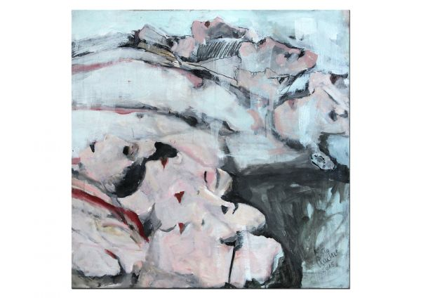 """Liegende"" Ölgemälde von Mila Plaickner, Figuration & Abstraktion"