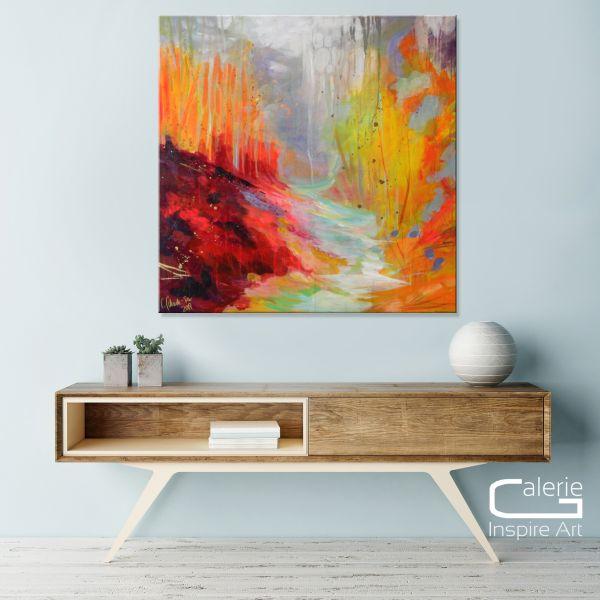 """""""Waldspaziergang"""" Gemälde, moderne Kunst Galerie"""