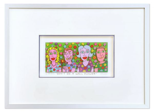 James Rizzi Halbe-Magnetrahmen DON´T BE A WALL FLOWER