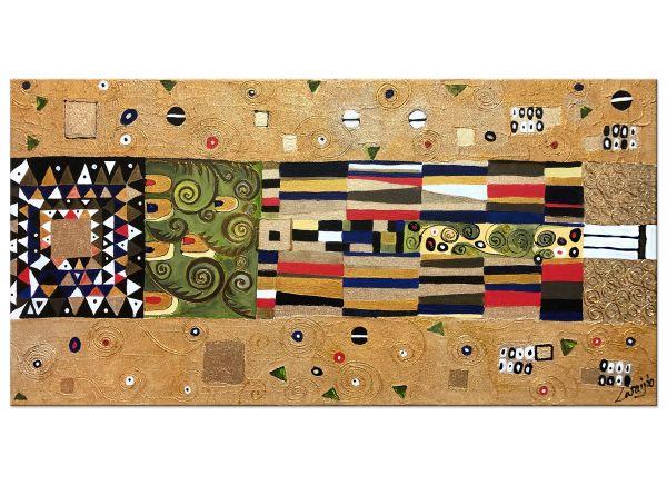 Hommage an Gustav Klimt - Mosaik Knight