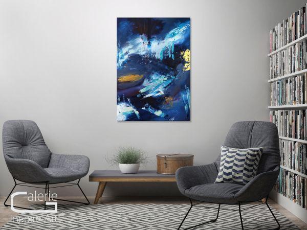 Sapphire kunst wohnzimmer abstrakt