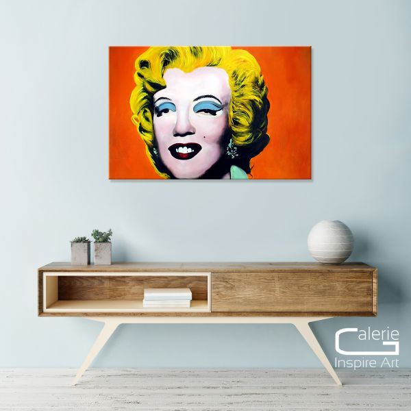 """Marilyn"" [orange] Pop Art Gemälde - handgemaltes Original in Öl"